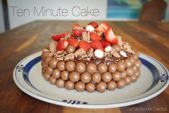 No bake cake, ten minute, chocolate, malteser cake, quick, man cake