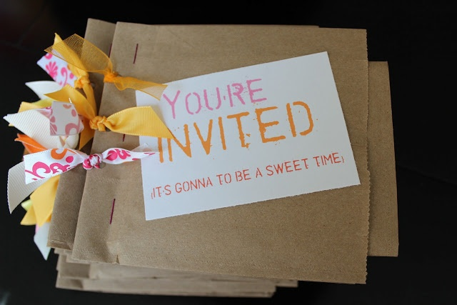 """It's my Bag"" Activity Days Get-to-know-you activity  Paper Bag invitation"