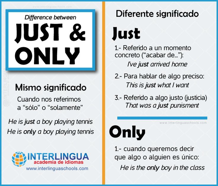 "How to use ""just"" and ""only"" in English #English #ingles"