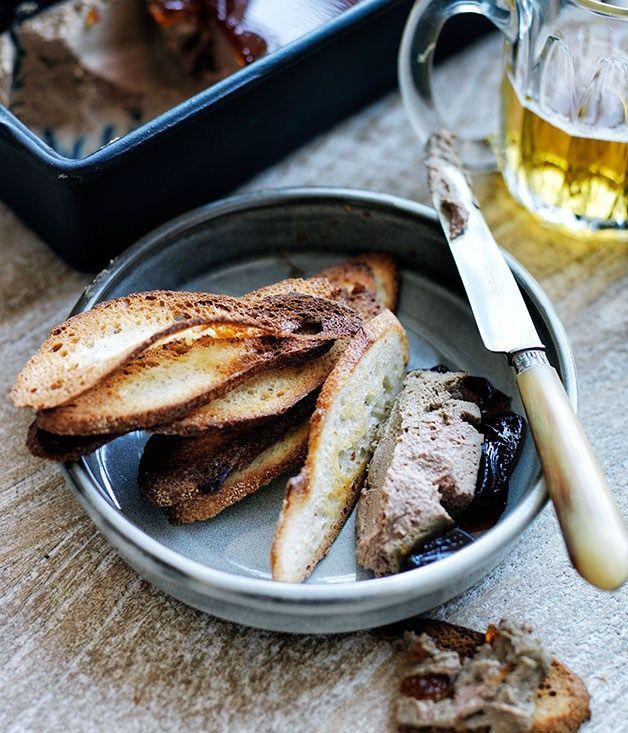 Duck-liver pâté croûtes recipe | French recipe - Gourmet Traveller