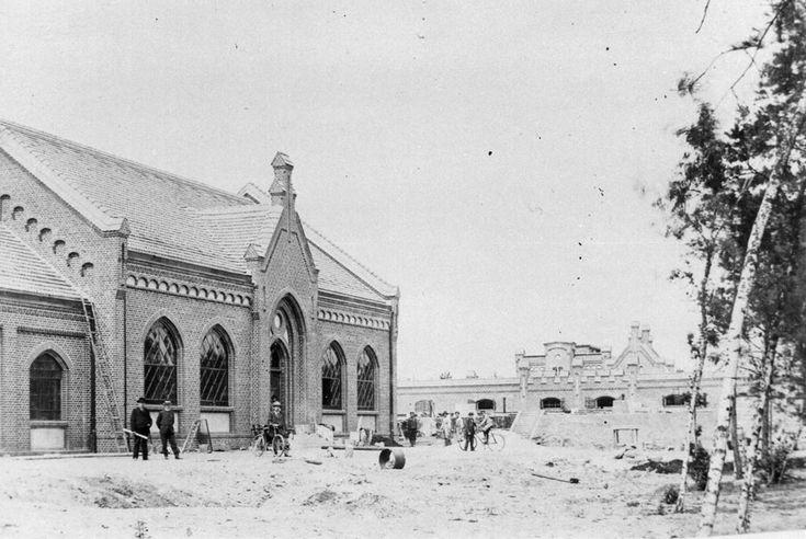 Forst Lausitz Aufbau Des Wasserwerkes Um 1902