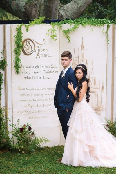 Step into your own fairy tale with a storybook backdrop.