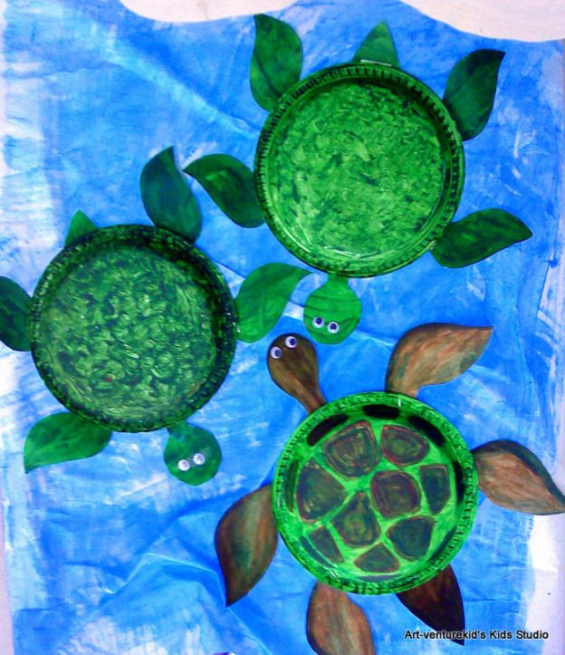 how to make a sea turtle craft
