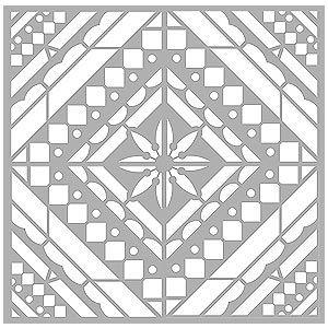 Large Mediterranean Floor Stencil