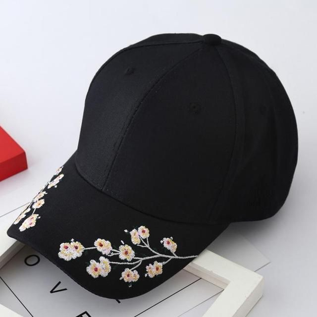 2a082505cac Women Summer Hats Symmetrical Flower Embroidery Built-in insulation Knitted  Hats Femme Baseball Cap Adjustable
