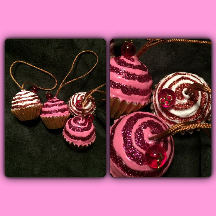 Decorations for Christmas or whenever . Cupcakes, glitter, pink, cherry. #joxogrejsbyae