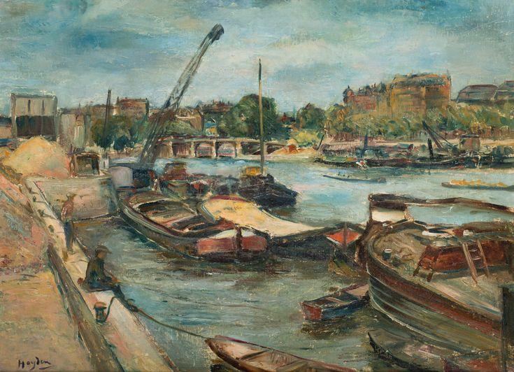 HENRYK HAYDEN (1883 - 1970)  BARKI W PORCIE   olej, tektura / 51 x 71 cm