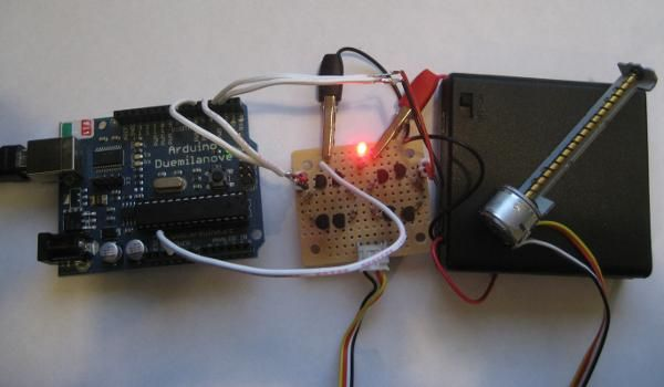 Driving CDROM Stepper Motor with Arduino