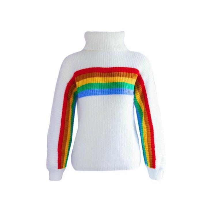 Korean Winter Warm Rain Bow Knitted Sweater SD01561