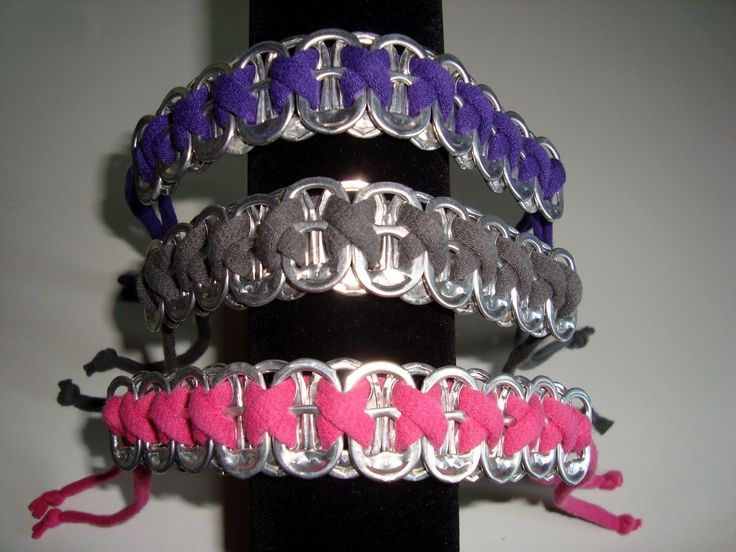 Bracelets From Soda Can Tabs #howto #tutorial