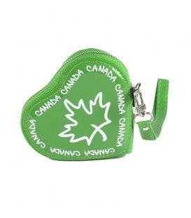 Green Canada Heart Coin Purse