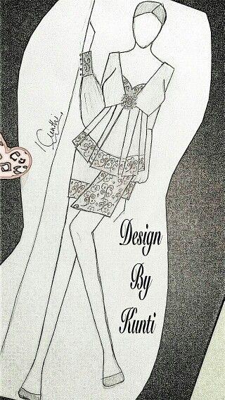 Batik kombinasi polos
