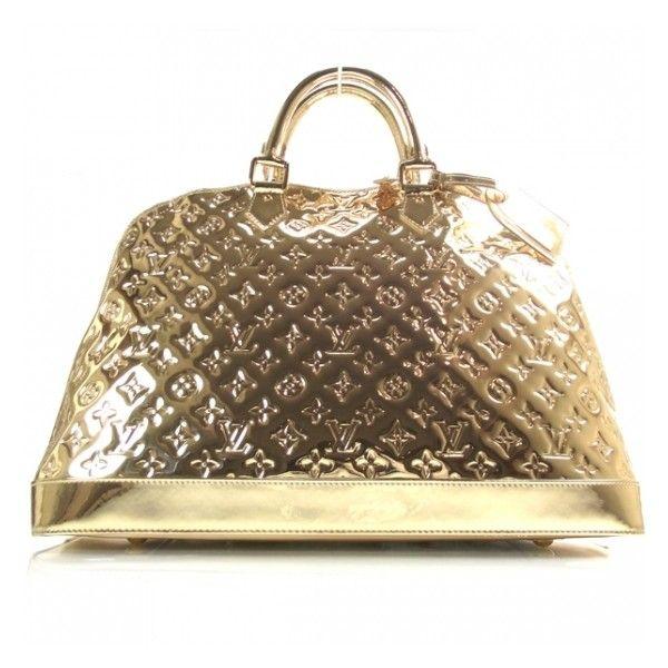 8e9c199f3f54 Fashionphile - LOUIS VUITTON Miroir Mirror Alma GM Gold found on Polyvore