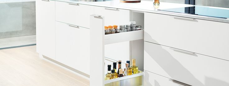 More storage space with narrow cabinets