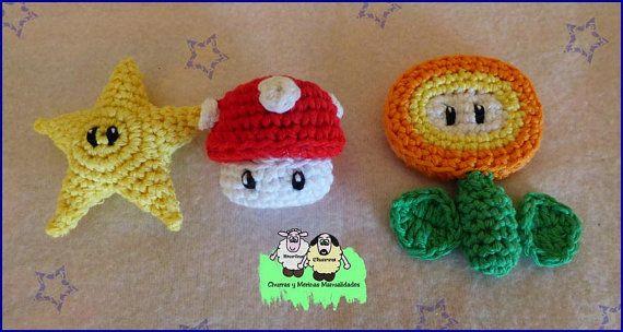 Pack 3 patrones Mario Bros