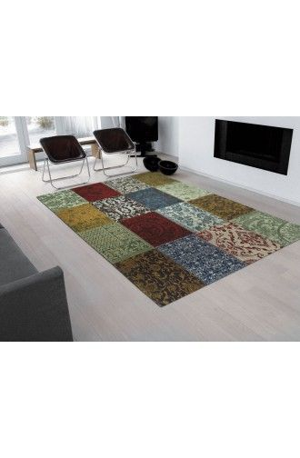 Vintage karpet, multi color. 170x240 € 489,00