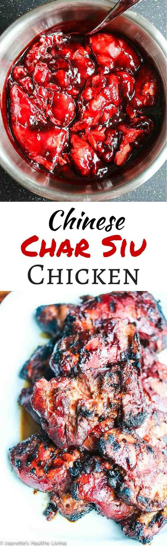 Grilled Chinese Char Siu Chicken - this marinade is phenomenal! No artificial…