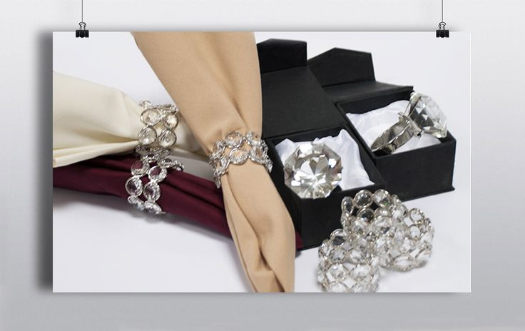 Go that one step further than folded napkins and check out our selection of Silver Embellished & 'Engagement Ring' Style Napkin Rings. It's the little things that make all the difference. http://www.prophouse.ie/portfolio/napkin-rings/