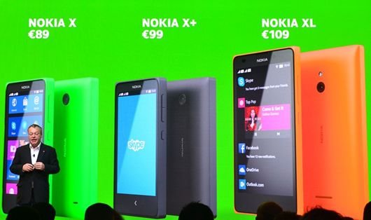 Nokia X, Nokia X+ dan Nokia XL