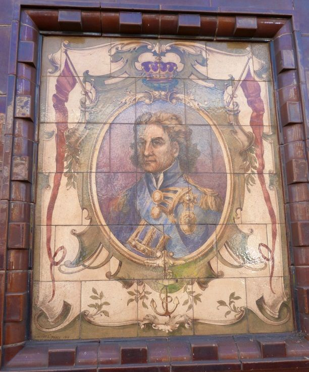 Tiles on the outside of The Lord Nelson Arms pub, South Wimbledon (1 of 3)