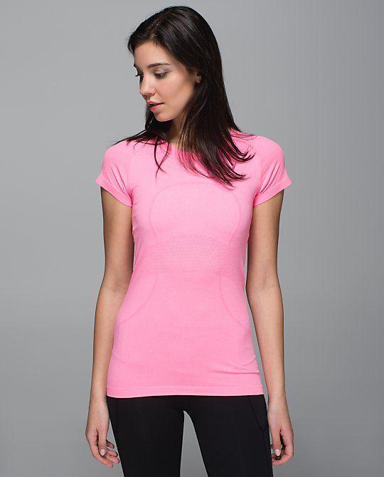 Run: Swiftly Tech SS*Crew- heathered neon pink Lululemon
