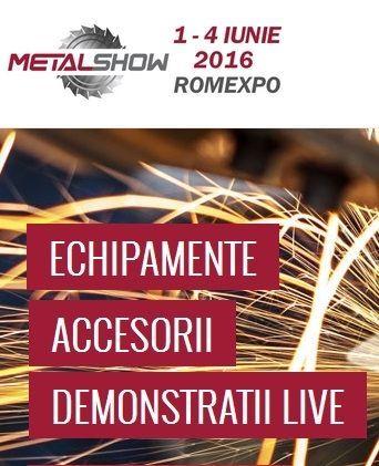 Metal Show: Viziteaza si prinde oportunitatile!  4 zile de intalniri de business, demonstratii, prezentare de echipamente, lansari de produse noi te asteapta la cel mai dinamic eveniment din industrie.  DOAR 2 ZILE, pana la deschidere. Fii prezent la eveniment!