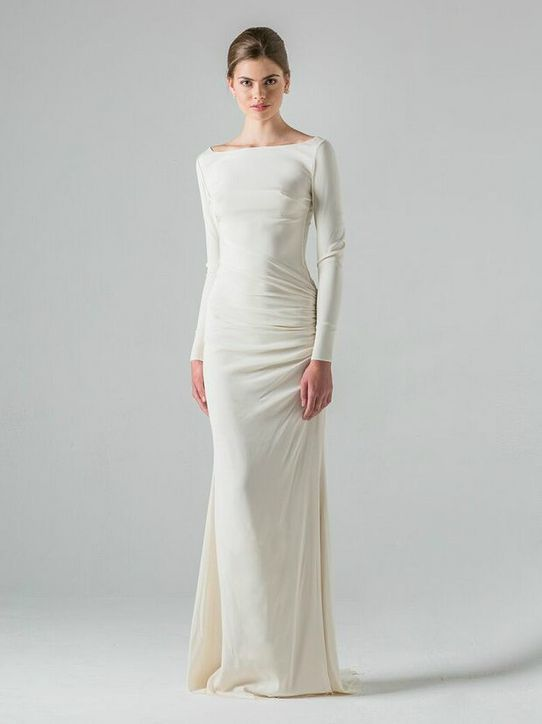 23 wedding dresses fit for a right now princess wedding for Sleek wedding dresses with sleeves