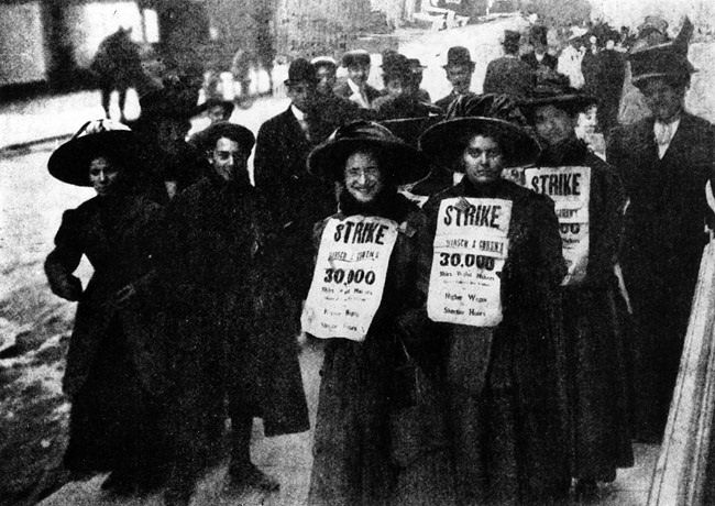 March 25, 1911: The Triangle Shirtwaist Factory fire in New York City kills 146 immigrant women workers. A major landmark in employment safety.