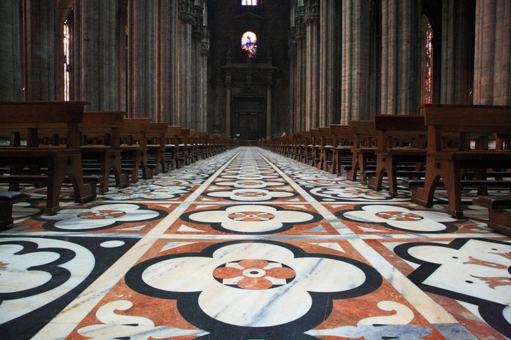 The Marble Floor of the Duomo, Milano, Italy