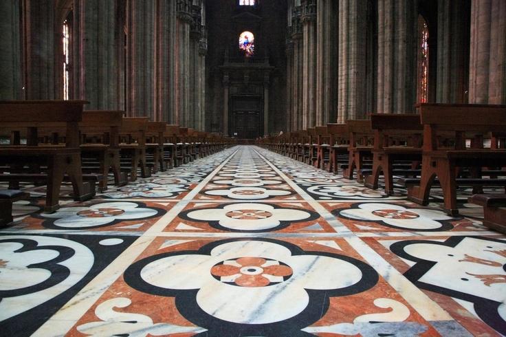 The Marble Floor of the Duomo, Milano, Italy