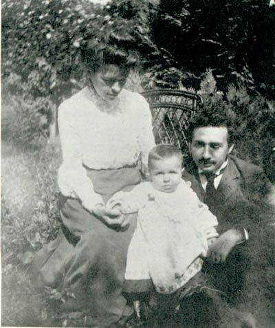 Albert Einstein and Mileva with Hans Albert, 1904. | Costume designer Tara Maginnis' inspiration pieces
