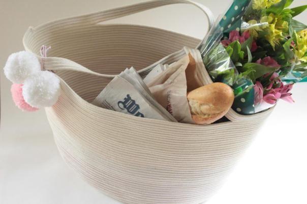 DIY: rope bag with tutorial #sew #diy