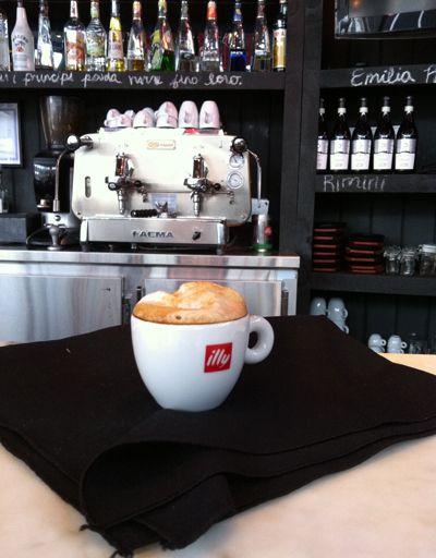 don't know what's prettier, the cappuccino or the Faema...