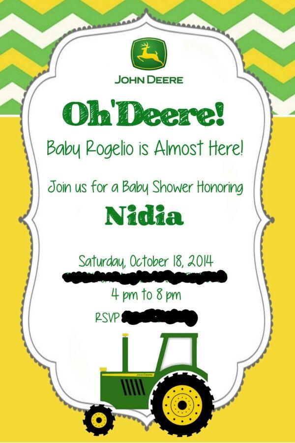 40 best John Deere themed baby shower images on Pinterest | Big ...