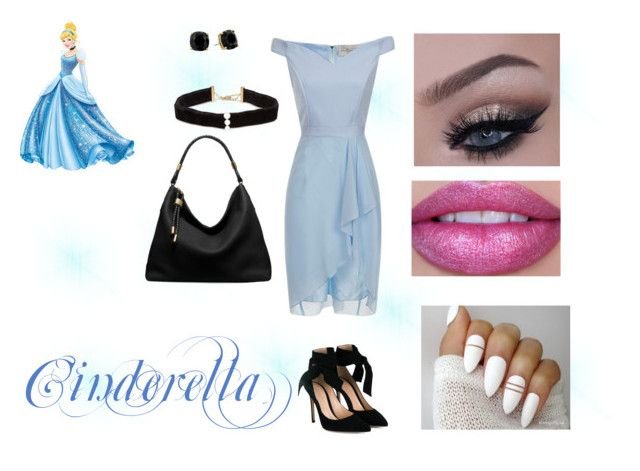 """""""Disney Princesses- Cinderella"""" by mystery-girl-loves-rock ❤ liked on Polyvore featuring Disney, Gianvito Rossi, Anissa Kermiche, Kate Spade and Michael Kors"""