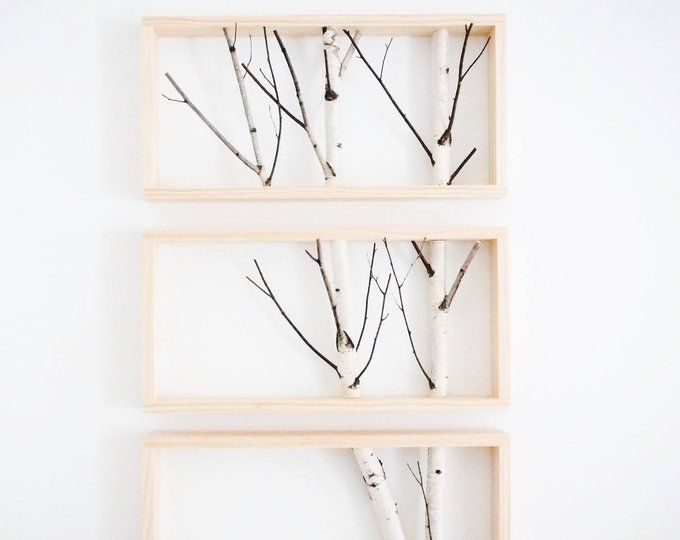 White Birch Forest Wall Art Coat Rack Birch Branch Birch Etsy Branch Decor Forest Wall Art Wood Floating Shelves