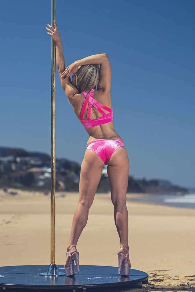 Minx Pink Candy Velvet Shorts