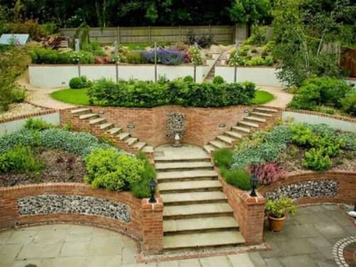 Landscaping Ideas For Sloping Gardens sloping front garden design ideas Elegant Sloping Garden Landscaping Ideas Long Steeply Sloping Garden Accent Garden Designs Landscaping