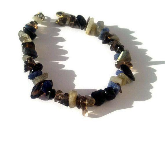 Storm Faerie Bracelet with Labradorite  Sodalite  by Mythfolk, $15.00