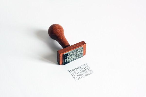 Desain Stempel Karet - Perpustakaan 1
