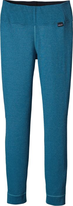 Patagonia Women's Capilene Thermal Weight Long Underwear Bottoms Ultramarine/Underwater Blue XXS
