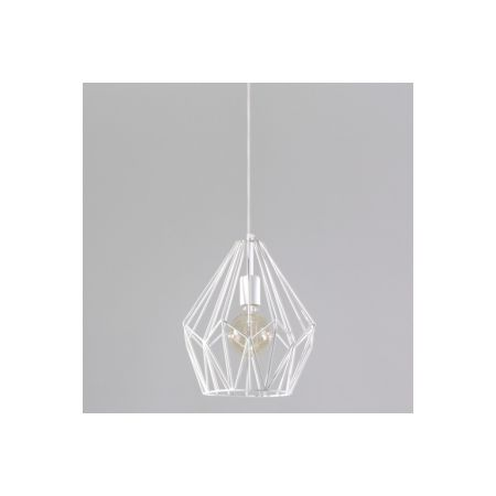 Industrialna LAMPA wisząca SOL SL.147 druciana OPRAWA zwis drut biały