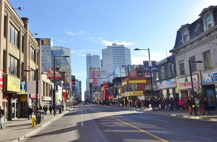 Yonge St. facing south from Gerrard St.,  2017