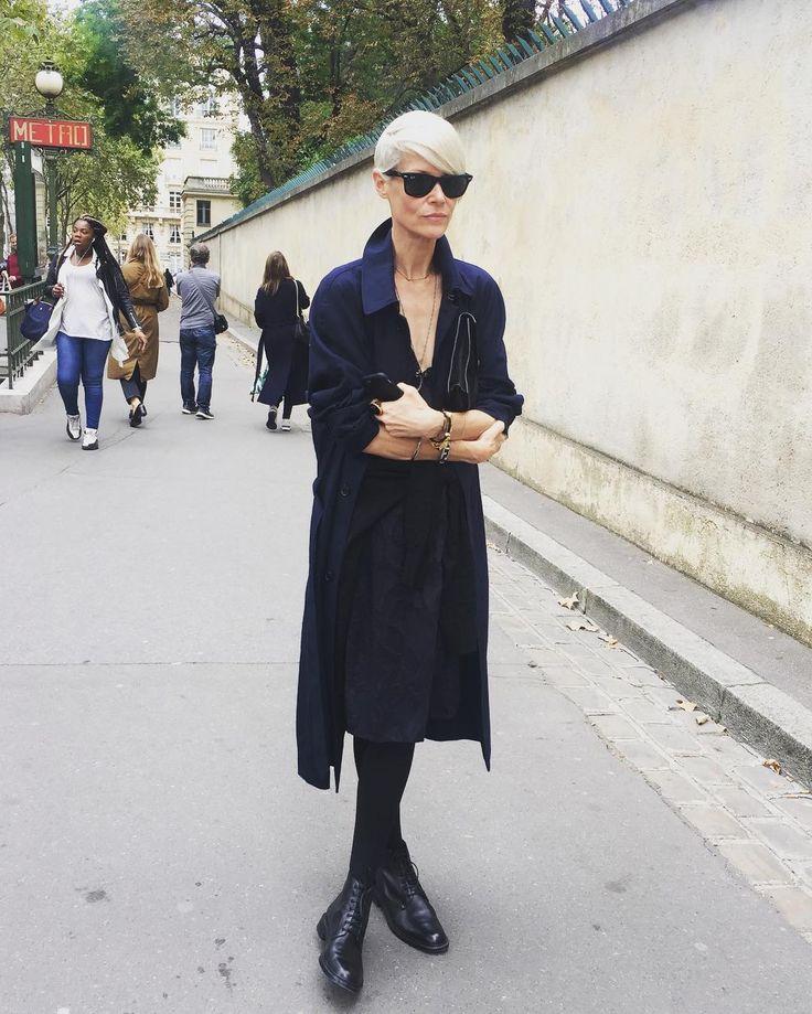 Kate Lanphear is one of the coolest woman i've met. #katelanphear #google #kate #parisfashionweek #pfw #onthestreet #ss2017