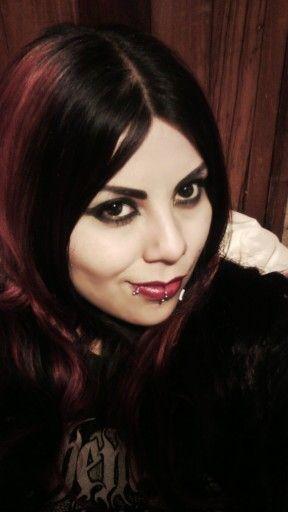 #Rouge #Blackmetalgirl #metalhead #piercing #redhair