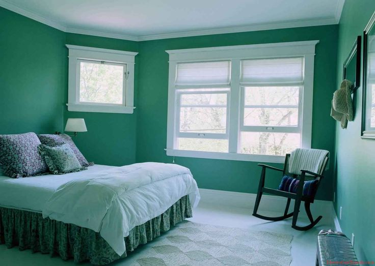 Green Bedroom Color Ideas green wall bedroom - creditrestore