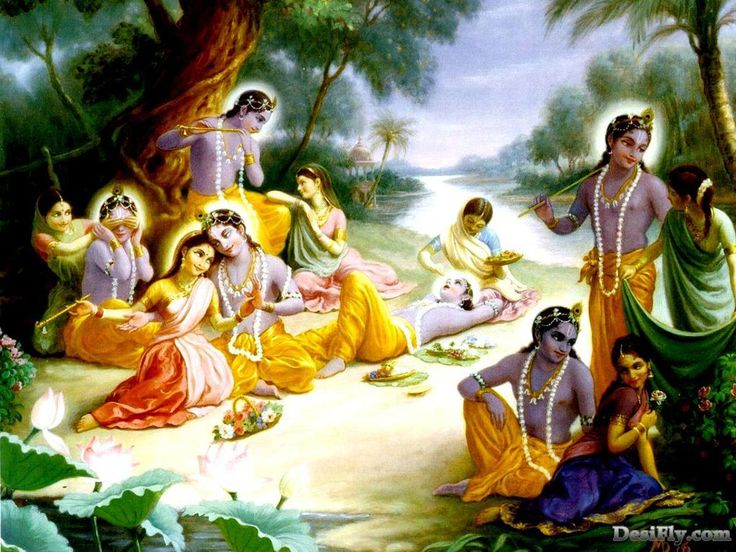 radha krishna love paintings - Google Search