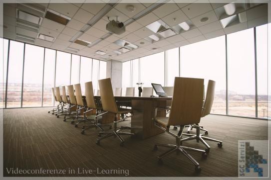 Pochi posti a sedere in questa sala? Con una video conferenza in Live-Learning questa sala diventerà enorme, senza confini.
