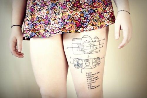 Camera tattoo