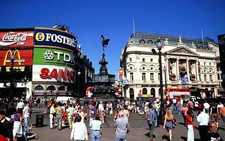 Piccadilly Circus, seeing the 'Lion King', a birthday gift from my hubby - 2008